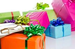 Κιβώτια δώρων και τσάντα δώρων Στοκ φωτογραφία με δικαίωμα ελεύθερης χρήσης