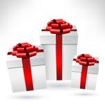 Κιβώτια δώρων με τα τόξα στο grayscale ελεύθερη απεικόνιση δικαιώματος