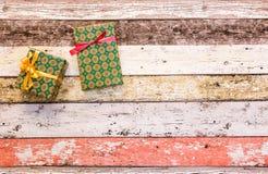 Κιβώτια δώρων με το χρωματισμένο έγγραφο Στοκ Εικόνα