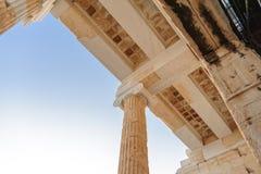 Κιβώτια Propylaea ακρόπολη στοκ φωτογραφία