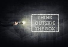 κιβώτιο έξω από τη σκέψη Στοκ εικόνες με δικαίωμα ελεύθερης χρήσης