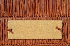 Κιβώτιο απορρίματος αχύρου με το κενό διακριτικό Στοκ Εικόνα