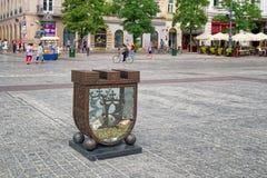 Κιβώτιο δωρεάς στο κύριο τετράγωνο αγοράς, Κρακοβία, Πολωνία Στοκ Εικόνες