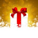 Κιβώτιο δώρων με την κόκκινη κορδέλλα Στοκ Εικόνες