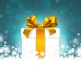 Κιβώτιο δώρων με τη χρυσή κορδέλλα Στοκ εικόνες με δικαίωμα ελεύθερης χρήσης