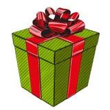 Κιβώτιο δώρων, σύμβολο διακοπών γενεθλίων, ρεαλιστικό σκίτσο απεικόνισης Χριστουγέννων συρμένο χέρι διανυσματικό διανυσματική απεικόνιση