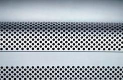 Κιβώτιο εγγράφου συσκευασίας υπολογιστών γύρω από το υπόβαθρο τρυπών Στοκ Εικόνες
