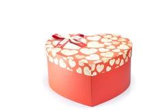 Κιβώτιο εγγράφου δώρων μορφής καρδιών Στοκ Φωτογραφία
