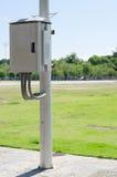 Κιβώτιο ελέγχου και ηλεκτρική θέση στο πάρκο Στοκ Εικόνες