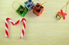 Κιβώτιο και κάλαντα Χριστουγέννων Στοκ Φωτογραφίες