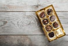 Κιβώτιο καραμελών σοκολάτας Στοκ Φωτογραφία