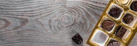 Κιβώτιο καραμελών σοκολάτας Στοκ εικόνες με δικαίωμα ελεύθερης χρήσης