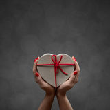 Κιβώτιο καρδιών βαλεντίνων Στοκ εικόνες με δικαίωμα ελεύθερης χρήσης
