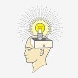 Κιβώτιο κεφαλιών τυπωμένων υλών: ιδέα ελεύθερη απεικόνιση δικαιώματος