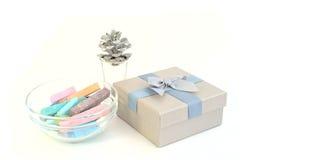 Κιβώτιο κιμωλίας και δώρων Στοκ φωτογραφίες με δικαίωμα ελεύθερης χρήσης