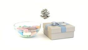 Κιβώτιο κιμωλίας και δώρων Στοκ Εικόνες