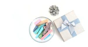 Κιβώτιο κιμωλίας και δώρων Στοκ Εικόνα