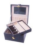 κιβώτιο κοσμήματος ή κενό κιβώτιο κοσμημάτων στο υπόβαθρο Στοκ εικόνα με δικαίωμα ελεύθερης χρήσης