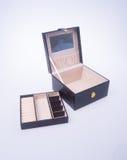 κιβώτιο κοσμήματος ή κενό κιβώτιο κοσμημάτων στο υπόβαθρο Στοκ φωτογραφία με δικαίωμα ελεύθερης χρήσης