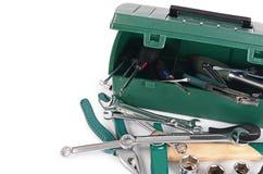 Κιβώτιο με τα εργαλεία κατασκευής που απομονώνονται Στοκ φωτογραφία με δικαίωμα ελεύθερης χρήσης