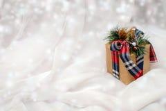 Κιβώτιο με τα Χριστούγεννα Στοκ εικόνες με δικαίωμα ελεύθερης χρήσης