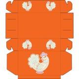 Κιβώτιο με τον τυποποιημένο κόκκορα κινούμενων σχεδίων Στοκ Εικόνα