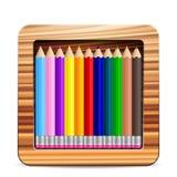 Κιβώτιο μολυβιών Στοκ Εικόνα