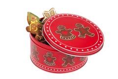 Κιβώτιο μπισκότων Christmasly Στοκ Φωτογραφία