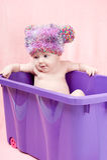 κιβώτιο μωρών λίγη γλυκιά βιολέτα στοκ εικόνες με δικαίωμα ελεύθερης χρήσης