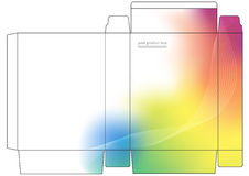 κιβώτιο που διπλώνει το διάνυσμα προϊόντων Στοκ εικόνα με δικαίωμα ελεύθερης χρήσης