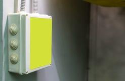 Κιβώτιο προειδοποίησης ηλεκτρικής ενέργειας Στοκ Εικόνες