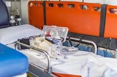 Κιβώτιο πρώτων βοηθειών στο ασθενοφόρο Στοκ Εικόνες