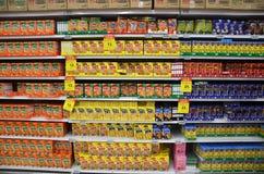 Κιβώτιο ραβδιών μπισκότων με το Pocky εμπορικό σήμα Στοκ Φωτογραφίες