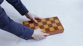 Κιβώτιο σκακιού απόθεμα βίντεο