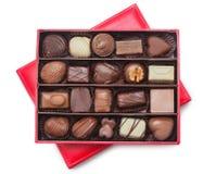 Κιβώτιο σοκολάτας στοκ εικόνες