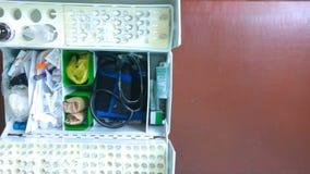 Κιβώτιο του γιατρού ασθενοφόρων απόθεμα βίντεο