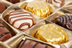 Κιβώτιο των σοκολατών Στοκ Εικόνα