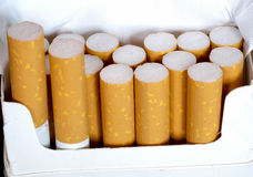 Κιβώτιο των τσιγάρων Στοκ Φωτογραφίες