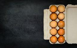 Κιβώτιο χαρτοκιβωτίων αυγών με το διάστημα αντιγράφων Στοκ Φωτογραφίες