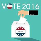 Κιβώτιο ψηφοφορίας ημέρας προεδρικών εκλογών Αμερικανικό Flag& x27 s συμβολικό Ele Απεικόνιση αποθεμάτων