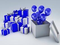 Κιβώτιο δώρων γενεθλίων τρισδιάστατο Στοκ Φωτογραφία