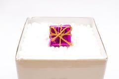 Κιβώτιο δώρων με ένα δώρο Χριστουγέννων Στοκ Εικόνες