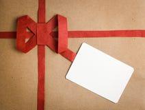 Κιβώτιο δώρων με την ετικέττα δώρων Στοκ εικόνα με δικαίωμα ελεύθερης χρήσης