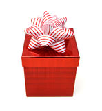 Κιβώτιο δώρων με την κορδέλλα Στοκ φωτογραφίες με δικαίωμα ελεύθερης χρήσης