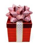 Κιβώτιο δώρων με την κορδέλλα Στοκ Φωτογραφίες