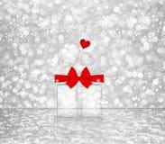 Κιβώτιο δώρων των καρδιών Στοκ Φωτογραφίες