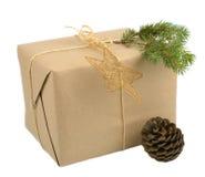 Κιβώτιο δώρων Χριστουγέννων Στοκ φωτογραφία με δικαίωμα ελεύθερης χρήσης
