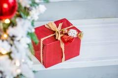 Κιβώτιο δώρων Χριστουγέννων Στοκ εικόνες με δικαίωμα ελεύθερης χρήσης