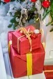 Κιβώτιο δώρων Χριστουγέννων Στοκ Φωτογραφία