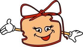 Κιβώτιο δώρων Smiley Στοκ φωτογραφία με δικαίωμα ελεύθερης χρήσης